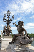 Sculpture on Alexandre III bridge — Stock Photo