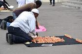 African street vendor — Stock Photo
