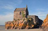 Saint-Aubert chapel at Mont Saint Michel — Stock Photo
