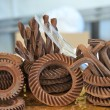 Chocolate mechanical instruments — Stock Photo