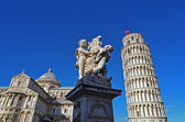 The fountain with angels in Pisa — Stock Photo