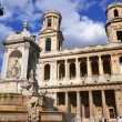 saint sulpice church in paris — Stock Photo