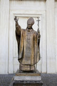 Karol Wojtyla bronze statue — Stock Photo
