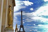 Eiffeltoren van trocadero — Stockfoto