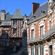 Stock Photo: Rennes half-timbered houses