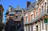 Rennes half-timbered houses — Stock Photo