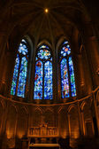 Chagall stained glass in Reims — Stock Photo