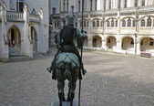 Prince Louis of Orleans statue in Pierrefonds — Stock Photo