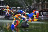 Stravinsky fountain in paris - The Nightingale — Stock Photo
