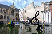 Stravinsky fountain in paris - The Musical Key of G — Stock Photo
