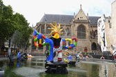 Stravinsky fountain in Paris - The Firebird — Stock Photo