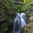 Sum waterfall in Vintgar gorge — Stock Photo
