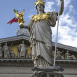 Stock Photo: Statue of Pallas Athen- AustriParliament in Vienna