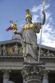 Statue of Pallas Athena - Austrian Parliament in Vienna — Stock Photo