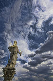 Statue of Pallas Athena - Austrian Parliament in Vienna — ストック写真