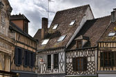 Auxerre half-timbered houses — Stock Photo