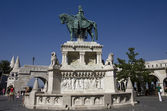 Statue of Saint Stephen in Buda Castle — Stock Photo