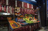 Fruit stand in Great Market Hall in Budapest — Stock fotografie
