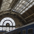 Train in Keleti railway station — Stock Photo