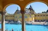 The Szechenyi bath in Budapest — Stock Photo