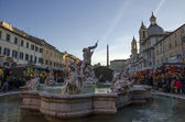Piazza Navona in Rome with Christmas Market — Stock Photo