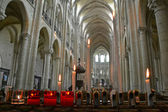 Noyon cathedral nave — Stock Photo