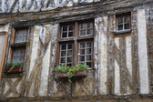 Half-timbered house window — Stock Photo
