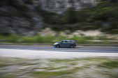 Car panning — Stock Photo