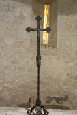 Wrought iron crucifix — Stockfoto