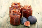 Jam of figs. — Stock Photo
