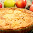Stock Photo: Homemade apple pie closeup.