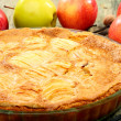 Homemade apple pie closeup. - Stock Photo