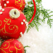 Beautiful Christmas balls. - Stockfoto