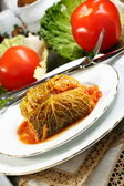 Savoy cabbage stuffed with meat. — Stock Photo