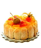 Cake with exotic fruit and jelly. — Stock Photo