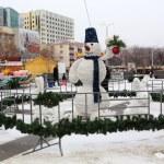 Snowman - Christmas decoration. — Stock Photo