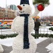 Snowman - Christmas electric decorations. — Stock Photo #17987765