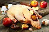 Ingewanden eend, appels en specerijen. — Stockfoto