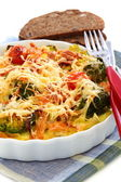 Casserole with vegetables and cheese. — Stock Photo