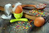 Easter decorations for cakes and eggs. — Stock Photo