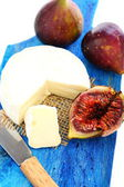 Figs and cream cheese. — Stock Photo