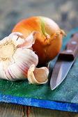 Garlic and onions. — Stock Photo