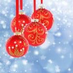 Red Christmas balls. — Stock Photo