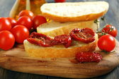 Ciabatta with sun dried tomatoes. — Stock Photo
