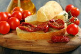 Sundried Tomato Bruschetta. — Stock Photo