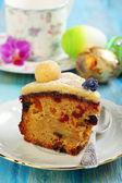 English Easter cake. Holiday breakfast. — Stock Photo