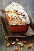 Almond cake with orange zest. — Stock Photo