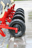 Wheels seeding system. — Stock Photo