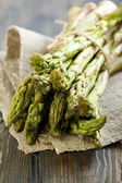 Green asparagus closeup. — Stockfoto