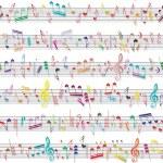 muziek nota geluid textuur — Stockvector